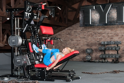 TYTAX M2 Multi-Gym Beinpresse liegend