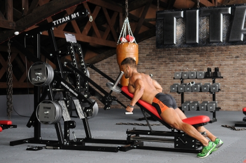 TITAN M1 Homegym Delta Rudern - Option JA