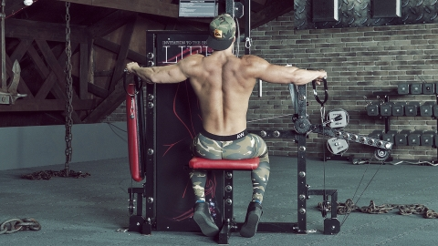 Cable Seated Lateral Raise s6 tytax seitheben sitzend