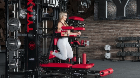 hängende crunches Hanging Lever Abs Exercise | TYTAX® T1-X (Opt. JD)