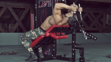 Lying Lever Cable Hammer Triceps Extension trizeps curls über kopf tytax s6